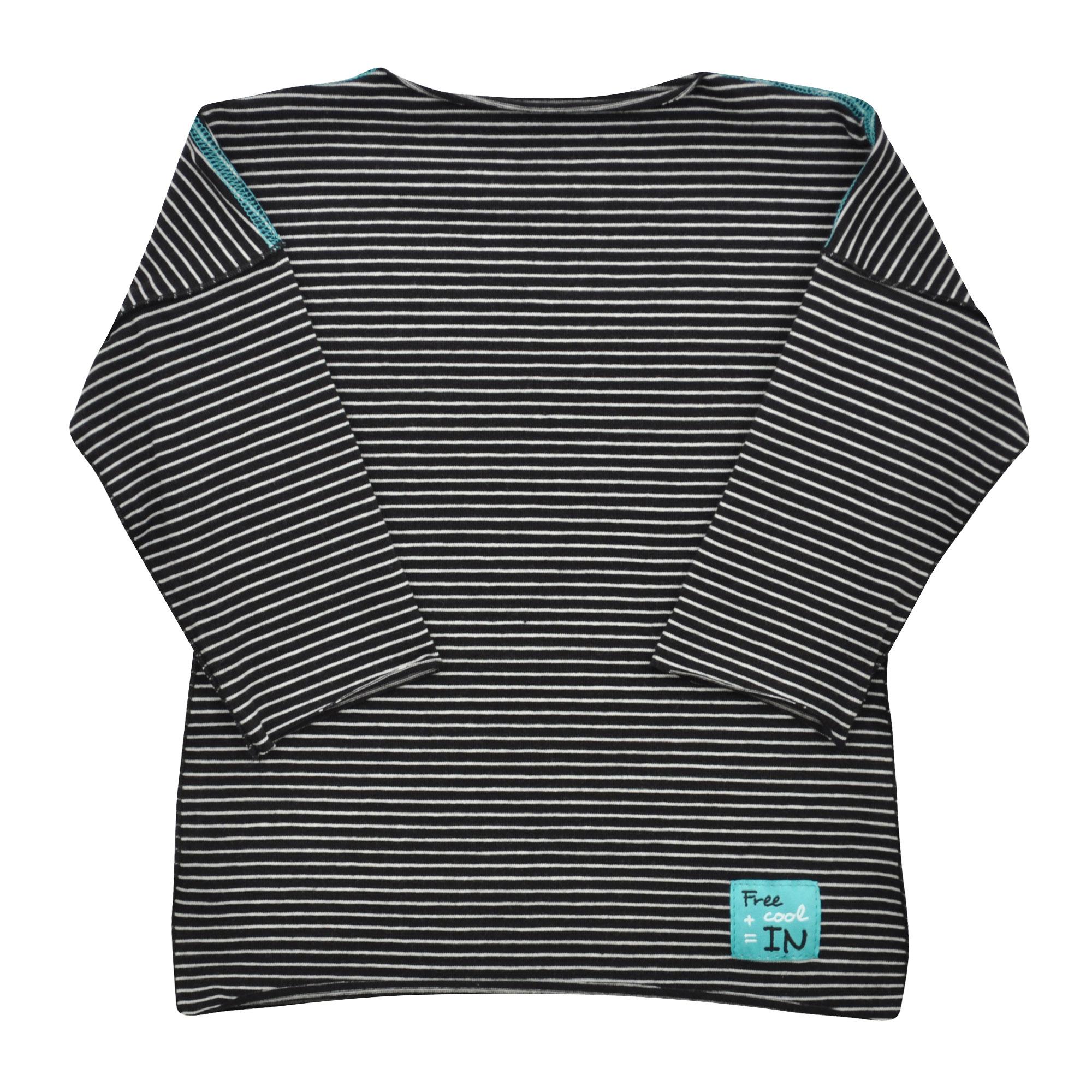 dětské tmavé pruhované tričko  5ee6297bc7
