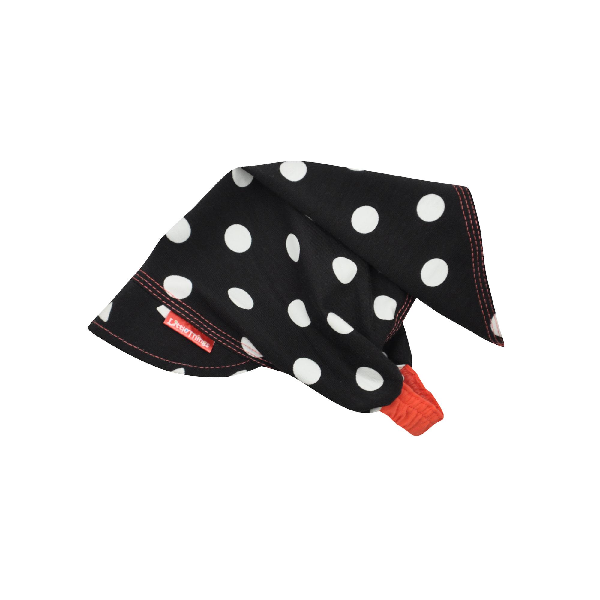 dívčí bavlněný šátek na hlavu s puntíky  f449c26ba8