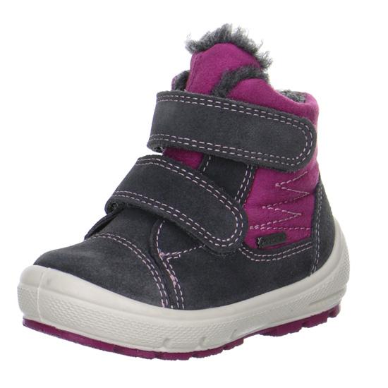 dívčí zimní kožené boty Superfit s goretexem  8b0e01b22e
