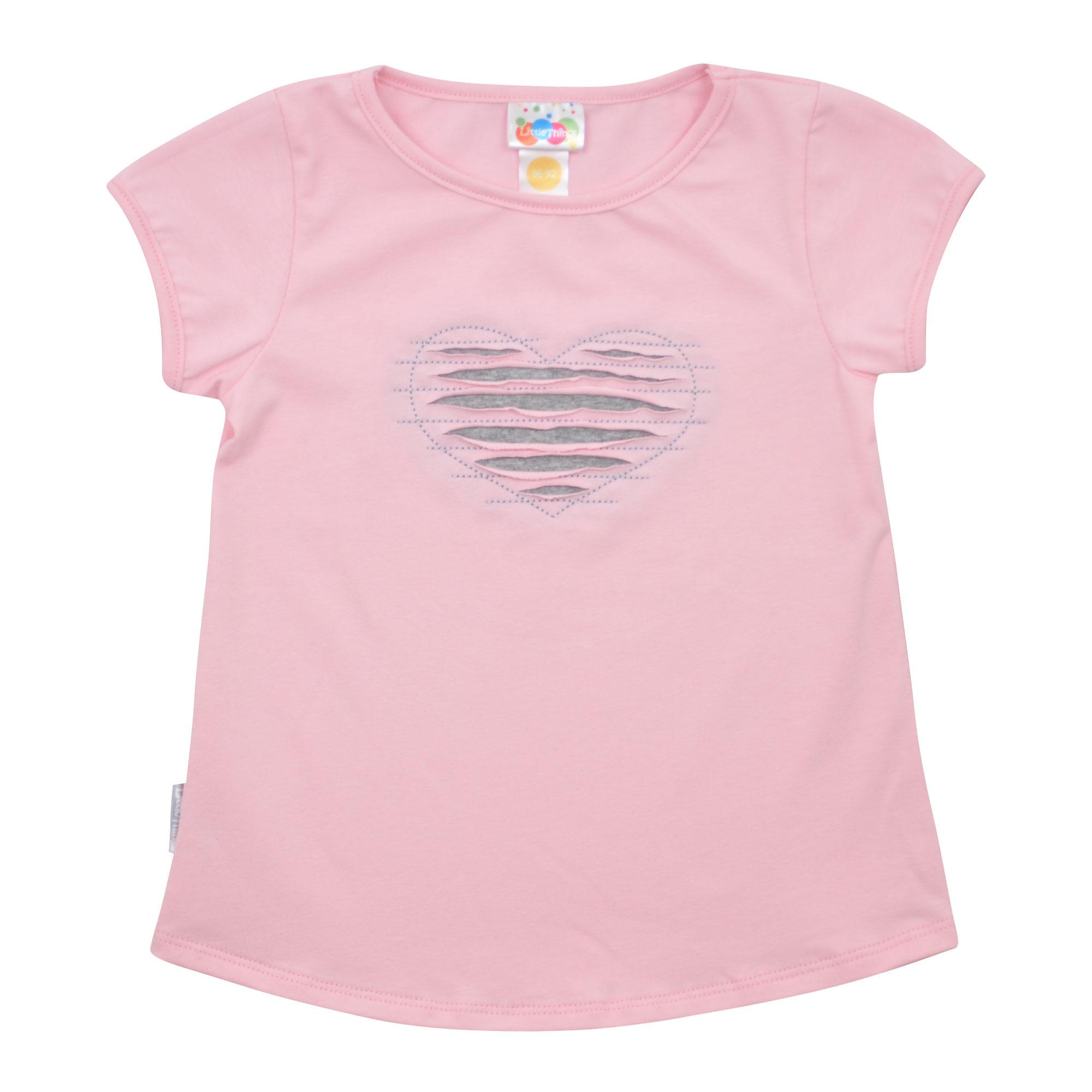 holčičí růžové tričko se srdíčkem  446aa317cd