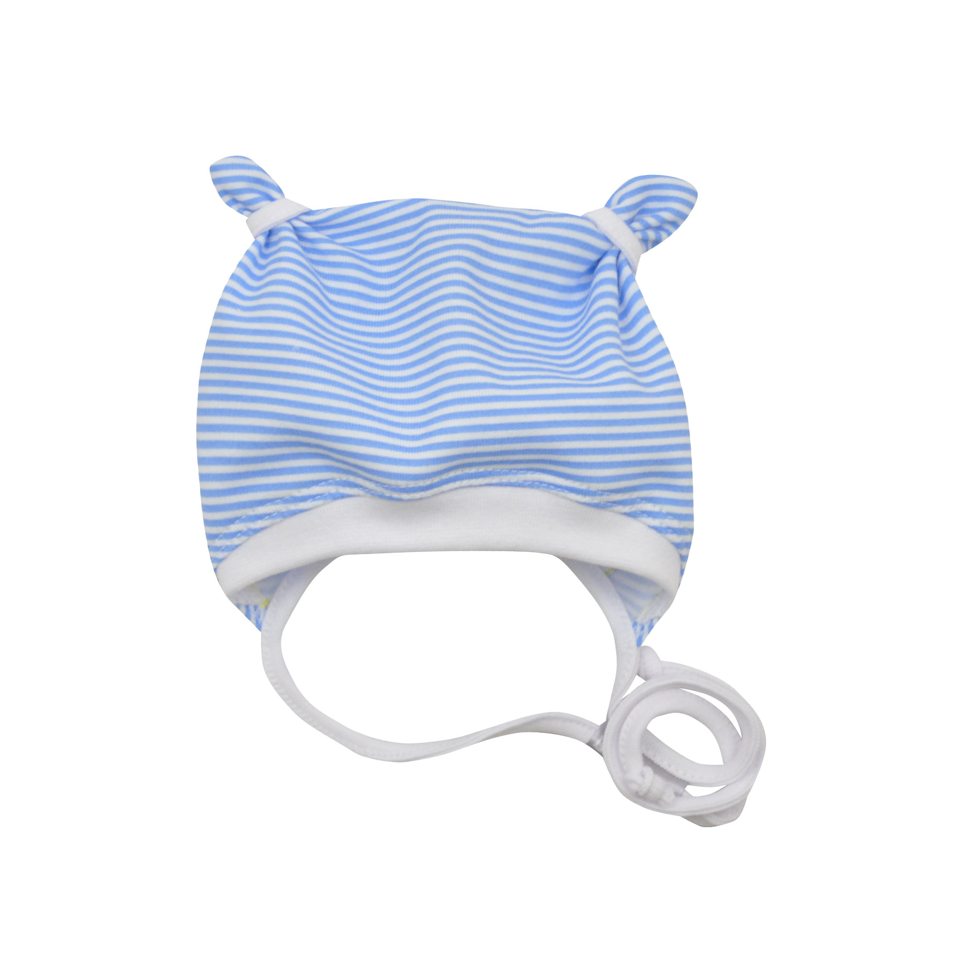 0d30d2ee876 kojenecká čepička s oušky v modré