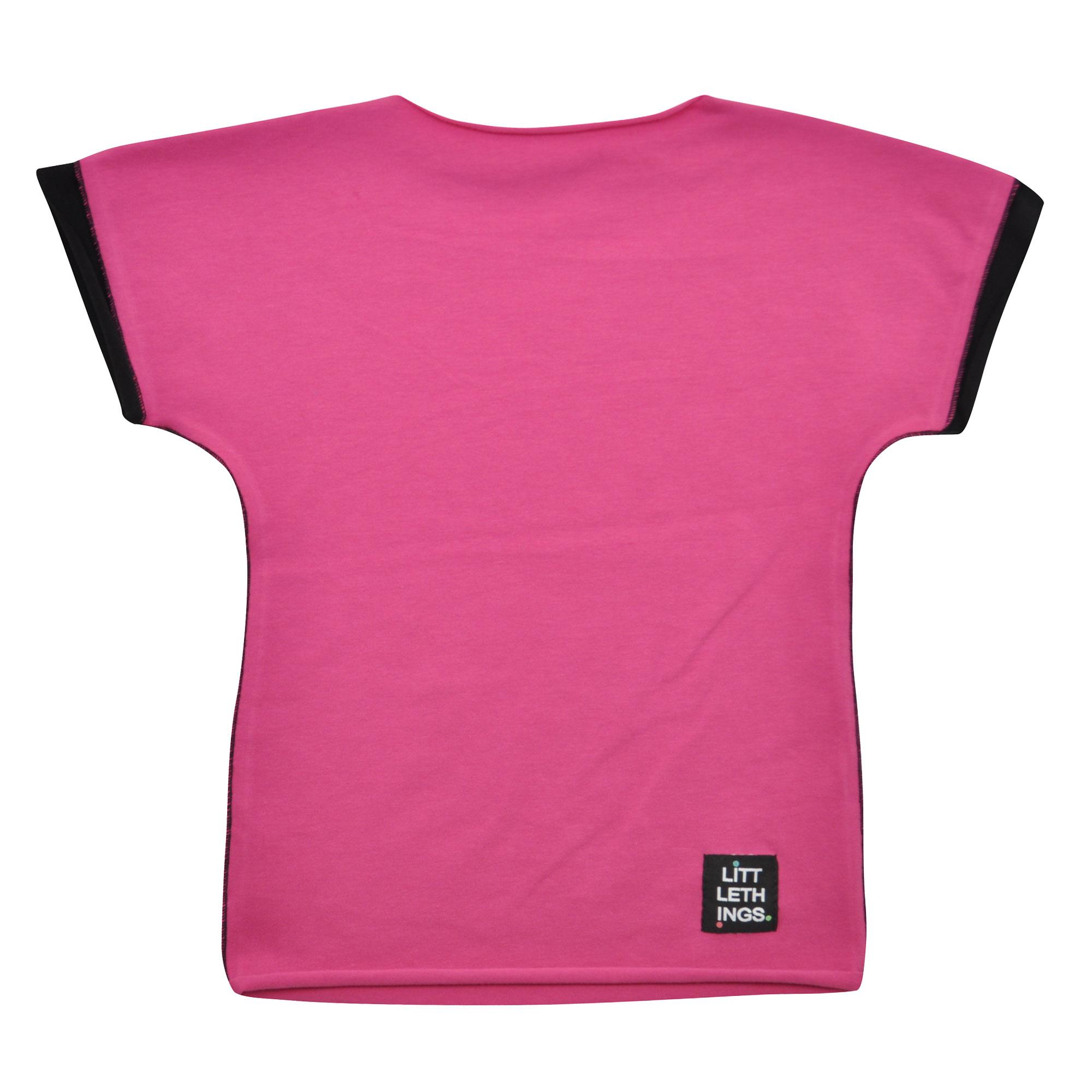 5e93b25c544 růžovofialové tričko s krátkým rukávem