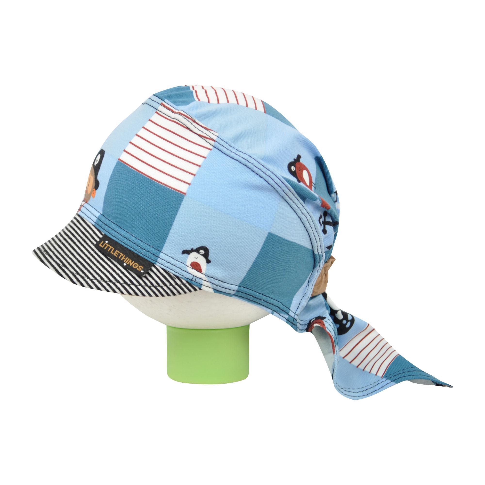 23087408651 světle modrý pirátský šátek na hlavu