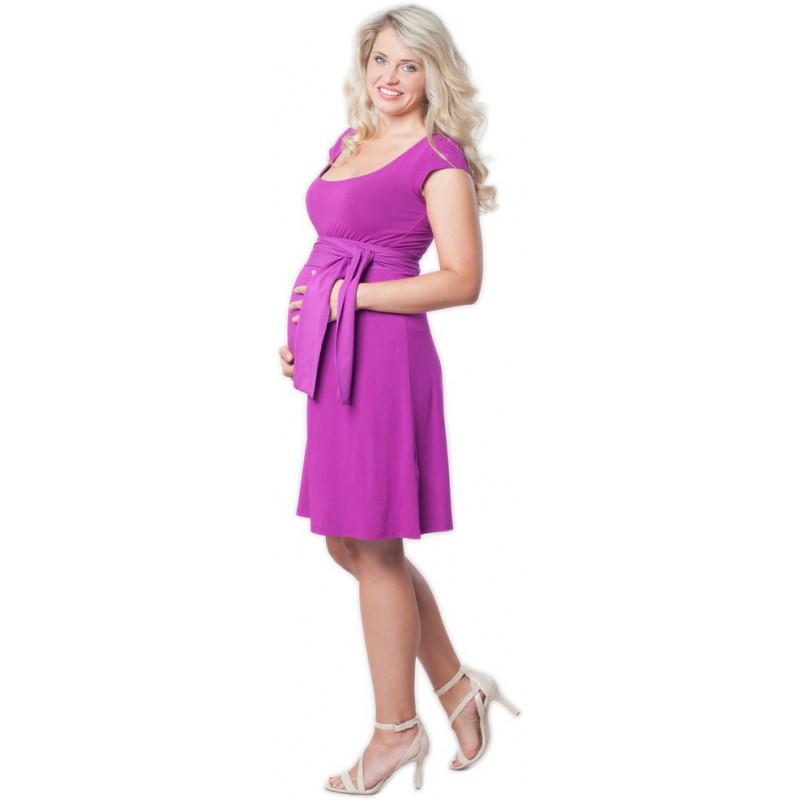 7604d4c049bc těhotenské šaty Adele lilac