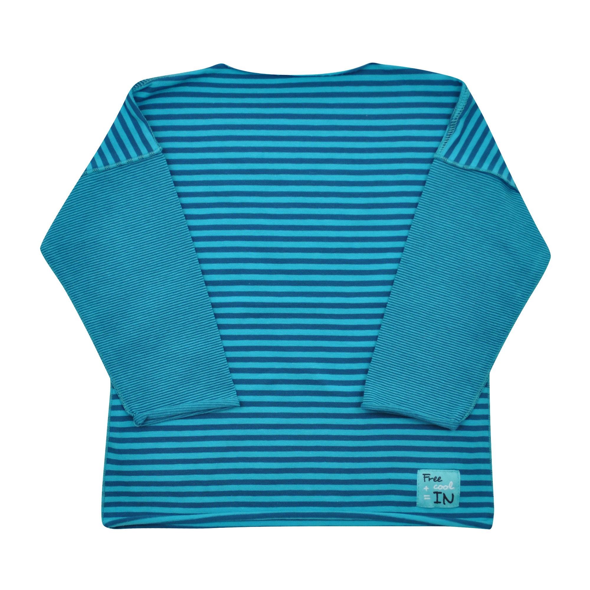 tyrkysové pruhované tričko s dlouhým rukávem  3390f00906