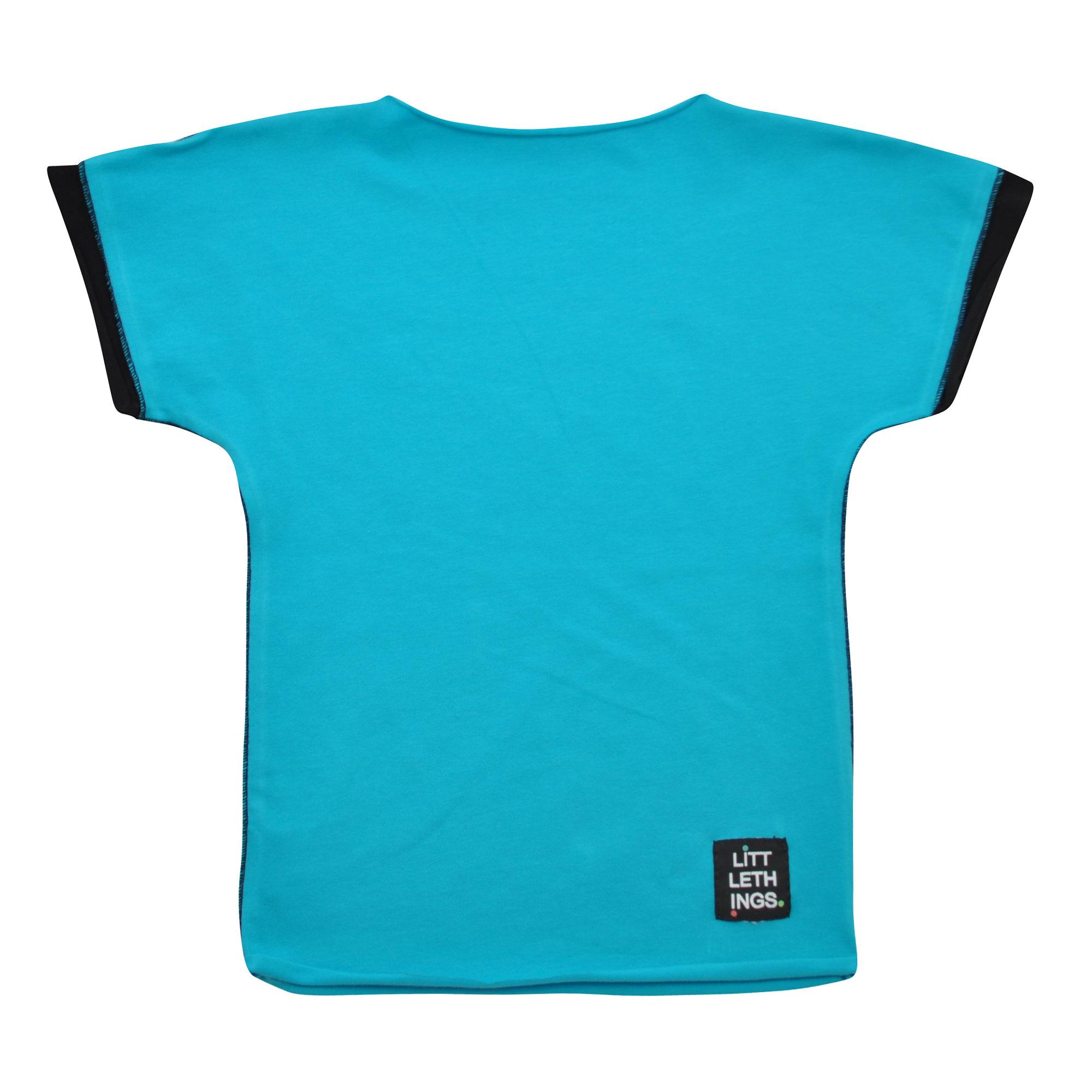 b17b81f369f tyrkysové tričko s krátkým rukávem