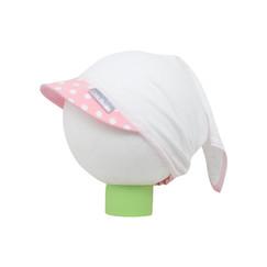 bílý bavlněný šátek na hlavu s puntíkatým kšiltem 40bb608fde
