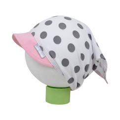 bílý bavlněný šátek na hlavu s puntíky 6faa8e7c46