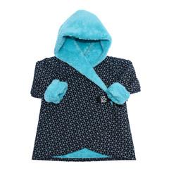 fa2e0cfdec5 černo-tyrkysový softshellový kabátek