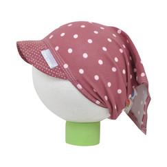 fialový bavlněný šátek na hlavu s puntíky e167464c4f