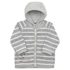 kojenecký svetrovinový kabátek v šedé 419118c7b8