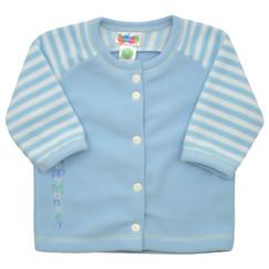 f46d4fa24b5 modrý fleecový kabátek pro miminka
