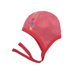 růžová bavlněná čepička s tkaničkami ed572eae71
