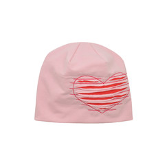 růžová čepice se srdíčkem fa555c1c79