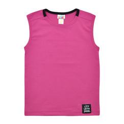 růžovofialové bavlněné tričko bez rukávů 79dde097ae