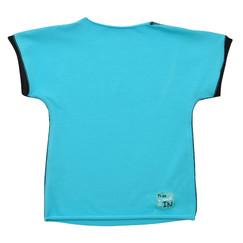 14d1ac67904 tyrkysové bavlněné tričko s krátkým rukávem